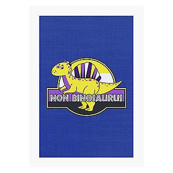Non Binosaurus Orgoglio Dinosauro A4 Stampa
