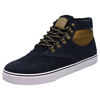 Element Topaz C3 Mid Mens Chukka Trainers in Navy Tan