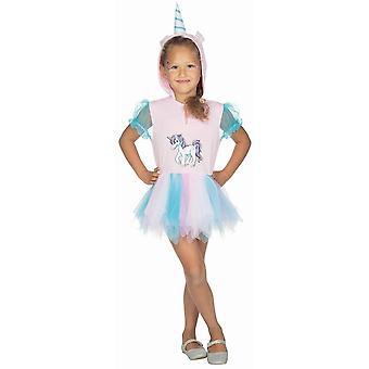 Einhorn Kleid Kinder Kostüm Pferd Einhornkostüm Kapuzenkleid