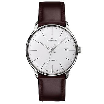 Junghans Meister Classic Automatic 027/4310.00 Silver Dial Brown Leather Strap Men's Watch
