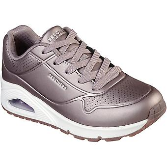 Skechers Girls Uno Rose Bold Air Cooled Memory Foam Trainers