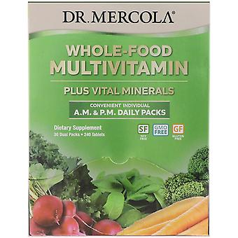 Dr. Mercola, Whole-Food Multivitamin A.M. & P.M. Daily Packs, 30 Dual Packs