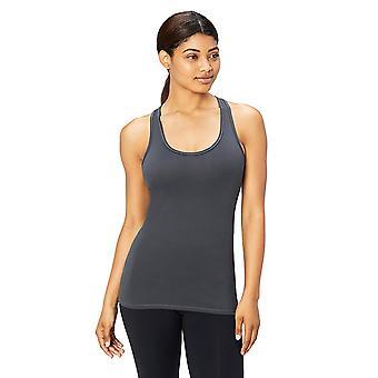 Core 10 Women's Yoga Fitted Racerback Tank, gris foncé,, Gris foncé, Taille 12.0