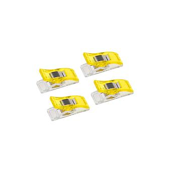 100PCS Viacúčelové plastové vešiaky na šaty Žltá