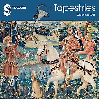 Glasgow Museums  Tapestries Wall Calendar 2021 Art Calendar by Created by Flame Tree Studio