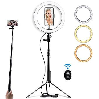 Selfie Led Ring Light With Tripod Stand For Makeup, Live Streaming & Youtube