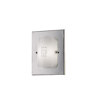 Inspirado Diyas - Starlis - Lámpara de pared Flush cambiado 1 luz pulido cromo, vidrio, cristal