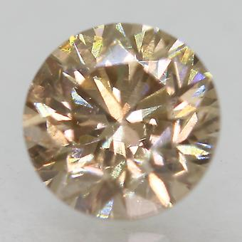 Cert 0.50 Ct Fancy Brown VS1 Round Brilliant Enhanced Natural Diamond 4.85mm 3VG