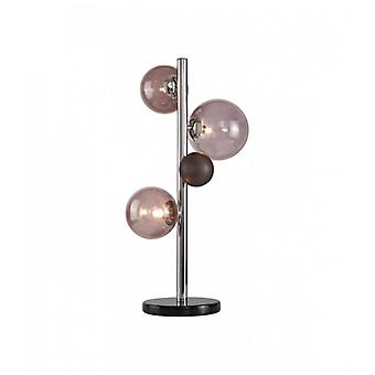 Table Lamp Conetti 3 Lights Polished Chrome 33-99 Cm