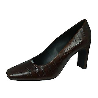 Geox D Vivyanne H A Womens Leather Court Shoes - Brown
