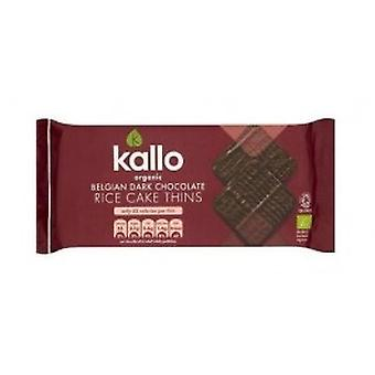 KALLO FOODS - Organic Dark Chocolate Rice Cakes Thin Sliced