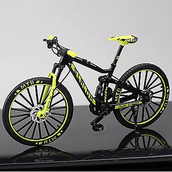 Alloy Bicycle Model Diecast Metal Finger Mountain Bike Racing Toy Bend Road Simulation Collection For Children