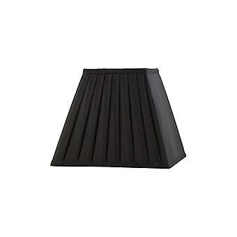 25 Cm Carré Abat-jour plissé noir