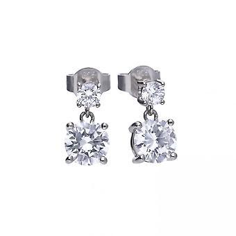 Diamonfire Silver White Zirconia Classical Earrings E5604