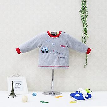 Kis stílus O nyak blúz hosszú ujjú ingek - velúr baba ruhák gyerekek