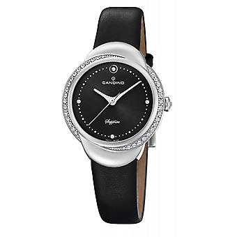 Candino Swiss C4623-2 Women's Black Leather Strap Wristwatch