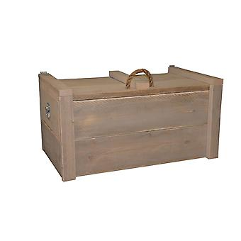 Wood4you - Spielzeug Box Armee Naturel Gerüst Holz 80Lx60Hx60D cm