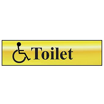 Scan Disabled Toilet - Polished Brass Effect 200 x 50mm SCA6004
