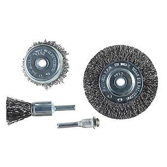KWB Wire Brush Set, 4 Piece KWB597500