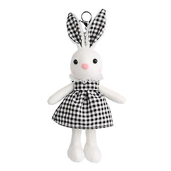 28cm Dressed Rabbit Soft Toy Keychain