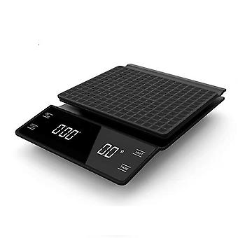 Älykäs digitaalinen, kannettava, tarkkuuskahviasteikko ajastimella (3kg / 0,1g)