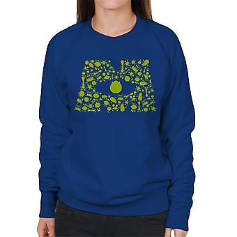 Pixar Monsters Inc Logo Character Silhouettes Women's Sweatshirt