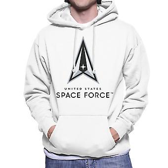 U.S. Space Force Lighter Logo Dark Text Men's Hooded Sweatshirt