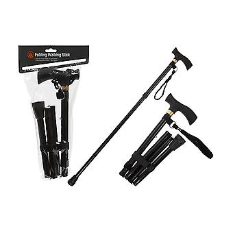 Summit Folding Walking Stick Black 761011