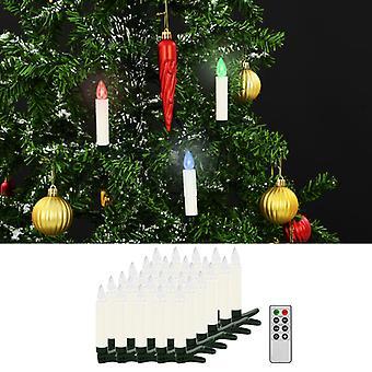 Kabellose LED-Weihnachtskerzen mit Fernbedienung 30 Stk. RGB