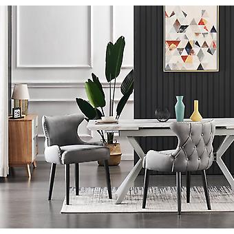 Oliver Velvet Dining Chair In Dark Grey (single Chair)