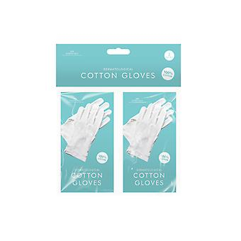Dermatological Moisturising White Cotton Gloves 2 Packs (2 Pairs)