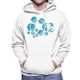 Sonic The Hedgehog Blue Symbols Men's Hooded Sweatshirt