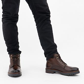 Base London Maidon Mens Leather Ankle Boots Brown