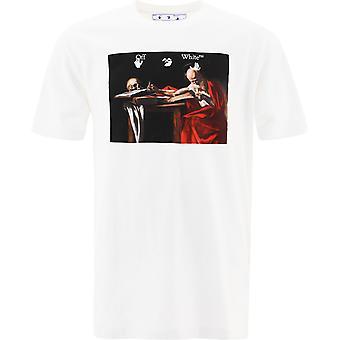 Off-white Omaa027r21jer0040125 Männer's weiße Baumwolle T-shirt