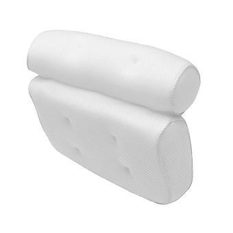 Oreiller 3d de baquet de bain de non-glissement, repose-tête avec des tasses d'aspiration pour le cou et le dos