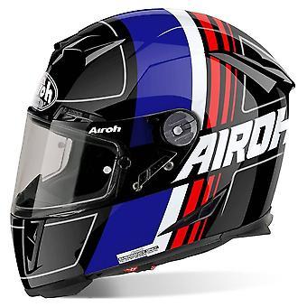 Airoh GP500 Full Face Motorradhelm Schwarz blau rot ACU Zugelassen