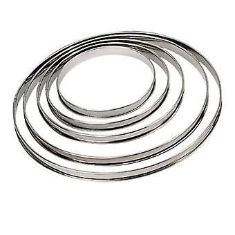 Round Circle Stainless Steel Piece Rim For Cakes And Round Pastries Quiche Diameter 28 Cm - Sleek And Practical !