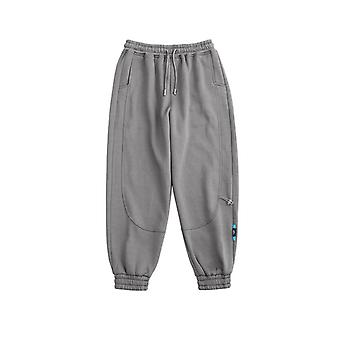 Winter Elastic Waist Sweatpant Streetwear Men Outdoor Pants