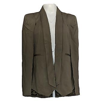 G.I.L.I. Got It Love It Women's Costume Jacket/Blazer Ponte Cape Green A297661