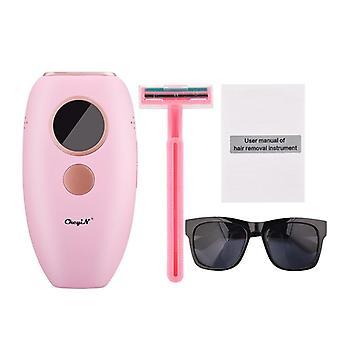 Pijnloze gezichtslichaam laser epilator machine (roze)