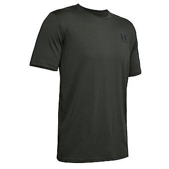 Under Armour Mens Sportstyle T-Shirt Logo Casual Training Top Khaki 1326799 310