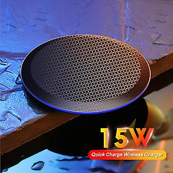 15W Fast Qi Wireless Charger For iPhone 12 Pro 8 X Xr Xs Max , Samsung