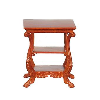 Dolls House American Side Table Walnut Jbm Miniature Living Room Furniture