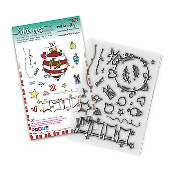 Polkadoodles Baubles & Banners Christmas Clear Stamps