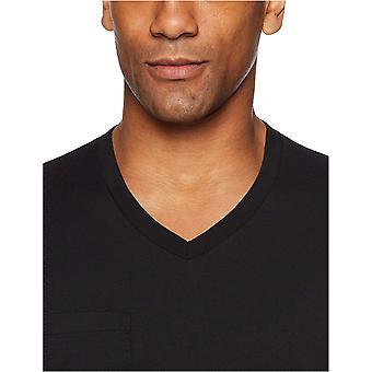 "Goodthreads Men's ""The Perfect V-Neck T-Shirt"" Short-Sleeve Cotton, Black, Medium"