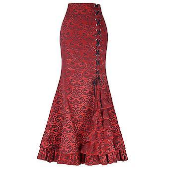 女性のスカート, トランペットマーメイドゴシックロングスチームパンクスカート