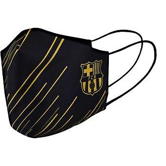 Barcelona mouth mask striped adult - black - licensed