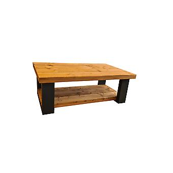 Wood4you - Salontafel New england - Roasted wood  100Lx90Dx43H Dubbel