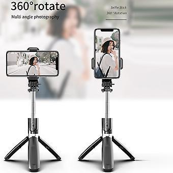 4 In1 Trådløst bluetooth-selfie-stick-stativ kan foldes sammen og monopods universelt til smartphones til Gopro- og sports actionkameraer