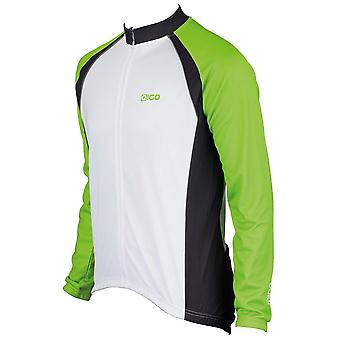 Eigo Logic Mens Long Sleeve Cycling Jersey Green / Black